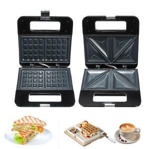 220V-750W-Household-Electric-Sandwich-Waffle-Maker-Machine-Breakfast-Baker