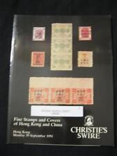 Christie's Catálogo de Subasta de Swire 1991 Hong Kong y China