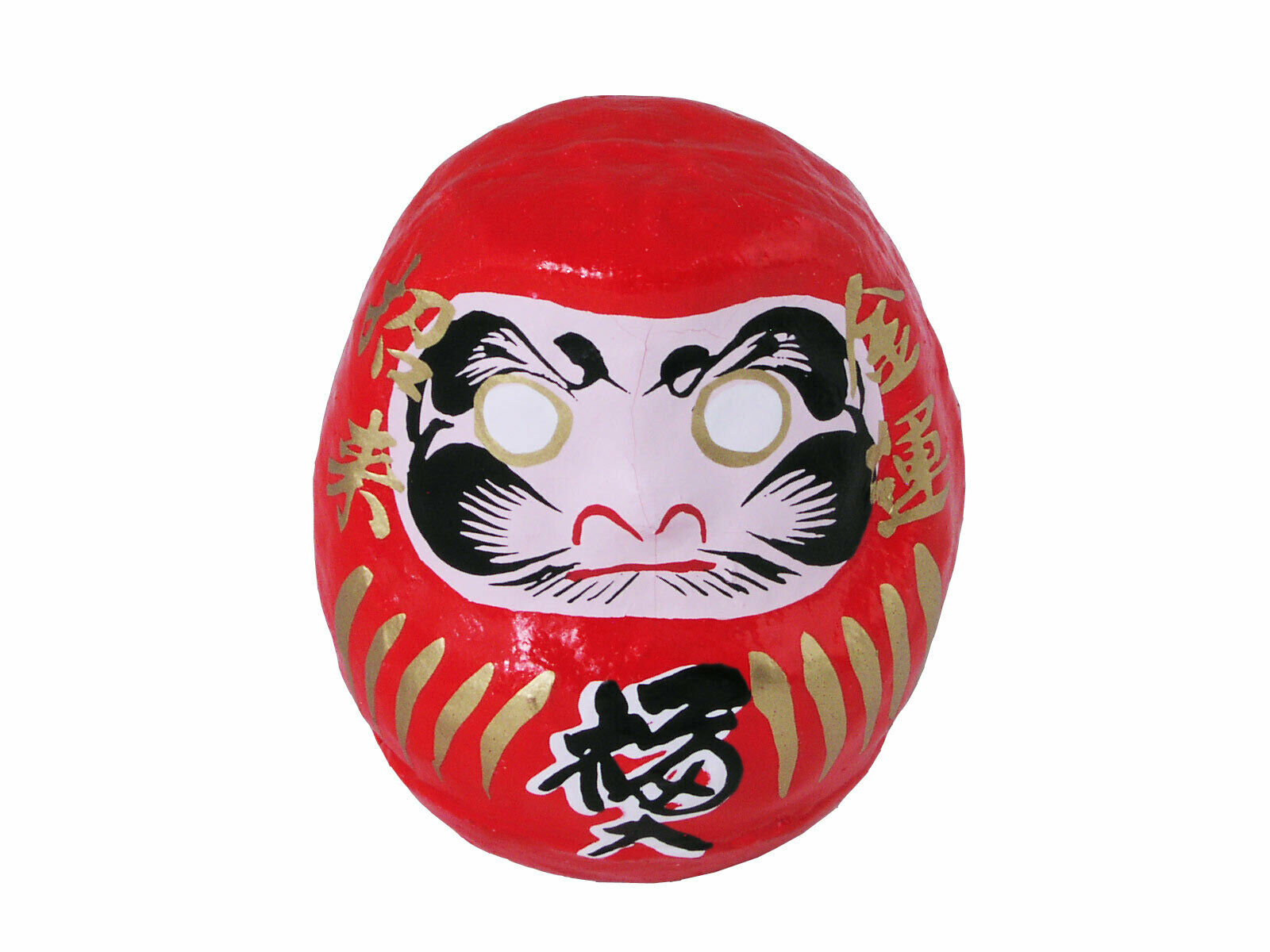 """SET of 4 Japanese 2.25/""""H Daruma Doll for Rich Good Luck /& Health Made in Japan"""