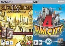civilization iv 4 gold & sim city 4 deluxe