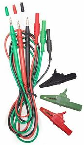 3-Wire Test Leads pour Fluke Megger Metrel amecal TL-115