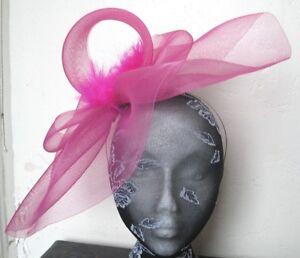 hot-pink-feather-fascinator-millinery-burlesque-headband-wedding-hat-hair-piece