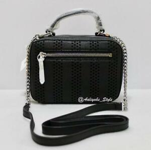 MILLY-Perforated-Stripe-Mini-Black-Cross-Body-Bag-Style-95SP66113-NWT