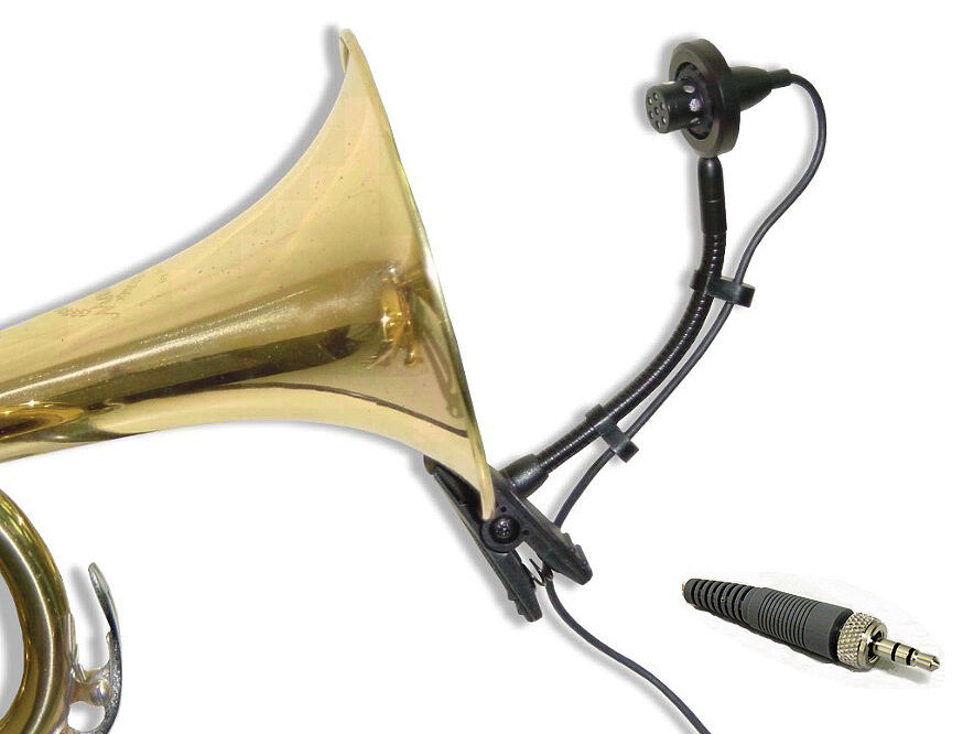 2 pcs Instrument Mic Horns Saxophones Trumpet Tuba Drum for Sennheiser Wireless