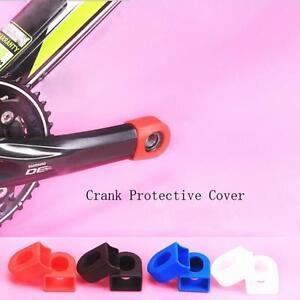 Bike Crank Arm Tip Protectors Crankset End Cover Sleeves Shimano SRAM Green