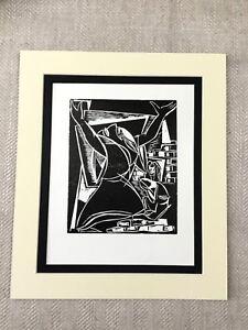 1960-Vintage-Ebraico-Stampa-Medio-Secolo-Moderno-Judaica-Bianco-e-Nero-Ebraismo