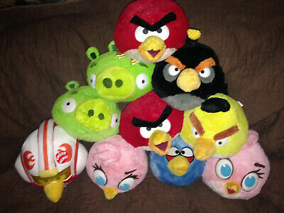 "Compiacente Vds Collector Lot De 10 Peluches ""angry Birds"" Dont Un Interactif 20 Cm Hauteur"
