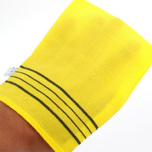 Korean Massage Towel SongWol Yellow Bath Goods Cleaning Shower Spa Brand 2 EA