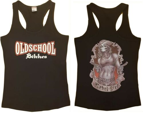 frauen Girlie Shirt Oldschool Bitches TankTop Rebel Girl für rockabilly tattoo