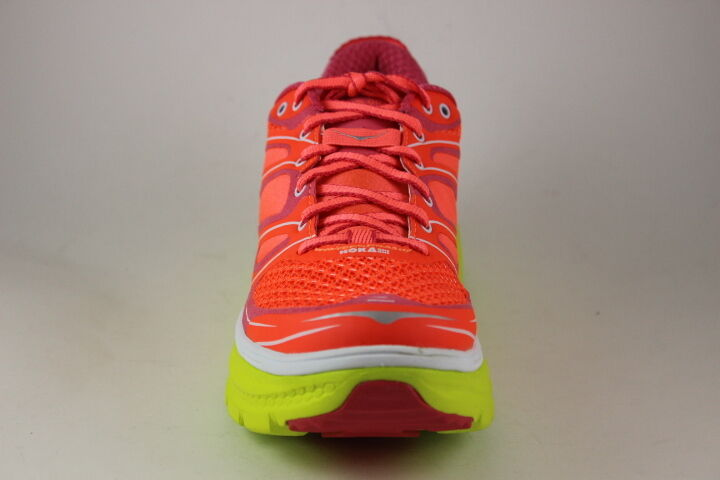 Women's Hoka OneOne Running shoes Conquest 2 Neon Neon Neon Coral Citrus 1007859 Brand New 9049d9
