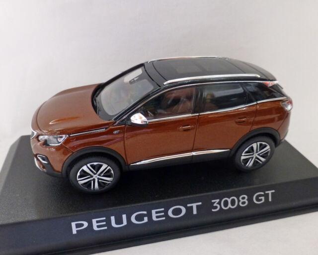1:43 NOREV blu-metallico PEUGEOT 3008 GT 2016