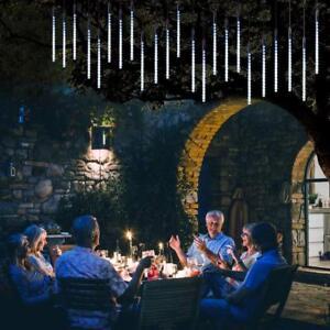 30cm-50cm-LED-Lights-Meteor-Shower-Rain-8-Tube-Xmas-Tree-Outdoor-Light-US-Plug