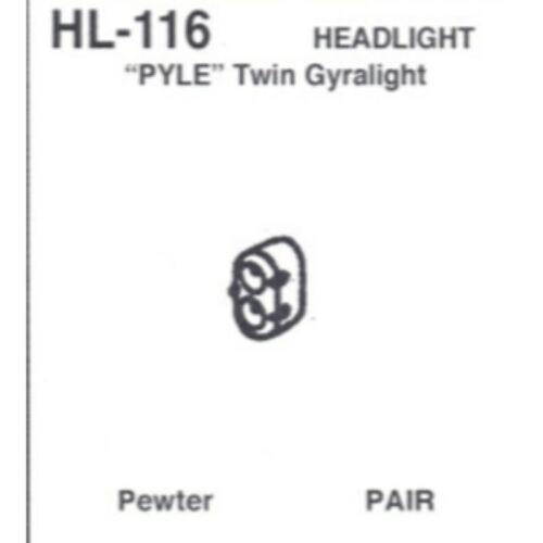 HO Scale Headlight Pyle Twin Gyralight pr Details West 116