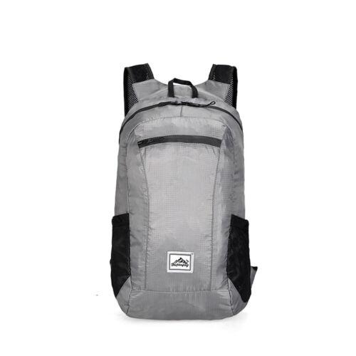 Unisex Foldable Backpack Bag Camping Hiking Travel Walking Rucksack Daypack A1H7