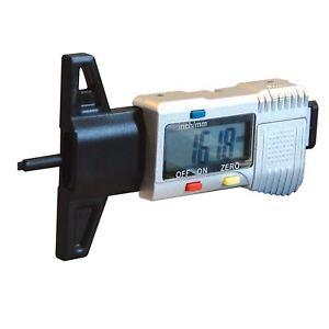 LCD Display Digital Depth Gauge Car Tyre Tread Brake Pad Shoe Pad Wear 0-25mm