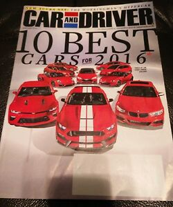 Image Is Loading Car And Driver January 2016 10 Best Cars