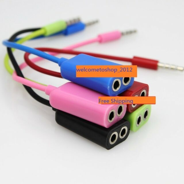 3.5mm 1 Male to 2 Female Audio Headphone Splitter Cable Adapter For iPhone MP3