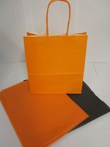 Orange-Halloween-trick-Ou-Traiter-Sac-de-soiree-bonbon-confiserie-present
