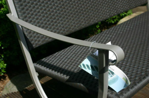 Wunderschöne MWH Gartenbank Ambinesso champagner mocca  Nur Nur Nur noch 6 Stück 88bf17