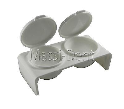 Doppel Dappen Dish mit Deckel Dose Döschen Aufbewahrung Anmischen Nagelstudio
