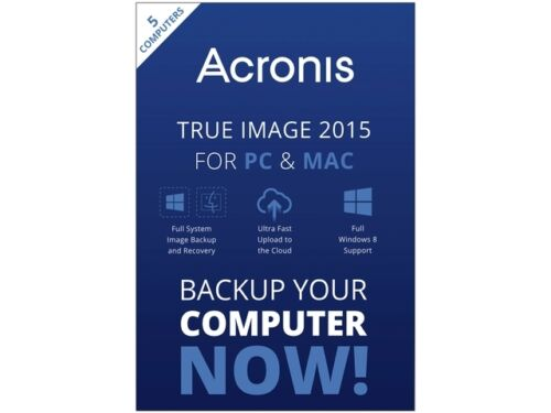 Acronis True Image 2015 For PC & Mac 5 Devices