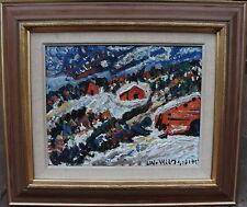 Uno Vallman 1913-2004, Expressive nordische Landschaft, datiert 1957