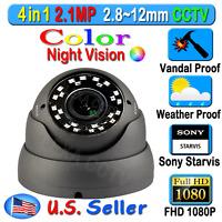 Lexacctv 4in1 Hd Sony Starvis 2.1mp 1080p 2.8-12mm Tvi Ahd Cvi Analog Camera