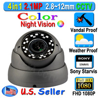 Lexacctv 4in1 Hd Sony Starvis 2.1mp 1080p 2.8-12mm Tvi Ahd Cvi Analog Camera