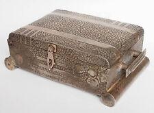antik Tibetische Silber Schmuckkiste truhe antique Tibetan Silver Box casket