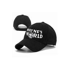 Wayne's world Black Cap Hat Baseball Cap Costume Fashion Style Cosplay