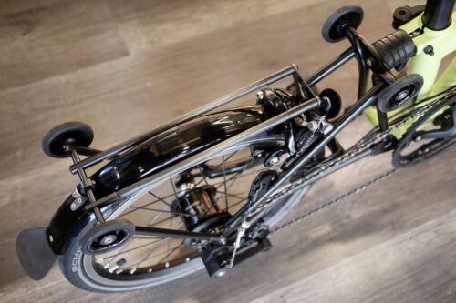 Ti Parts Workshop Ultralight Titanium Carbon Rear Rack for Brompton Bicycle