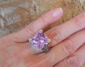 NEW-designer-inspired-Large-Light-Purple-Lavender-CZ-Ring-Cable-Detail-Size-6