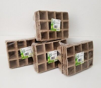 16 Packs X Garden Ease Peat Pots Seed Starting Starter Plant 152 Cells