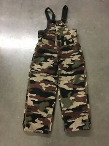 a2be150c0386b Walls Blizzard Pruf Camo Duck Boys Overalls X Large Youth Excellent ...