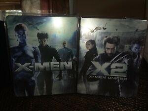 X-Men-Blu-ray-Metal-Pack-2-Lot-XMen-X2-XMen-United-With-Plastic-Covers