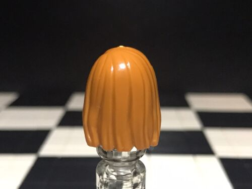 Lego Dark Orange Minifigure Hair Wig X1 For Female Girl Woman