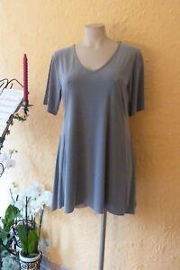 MAGNA Fashion Long Tunika Jacke Stretch Lagenlook dunkelgrau A-Linie alle Größen