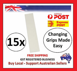 15-x-Pre-Cut-GOLF-CLUB-Driver-Iron-GRIP-TAPES-STRIP-Double-Sided-Change-Regrip