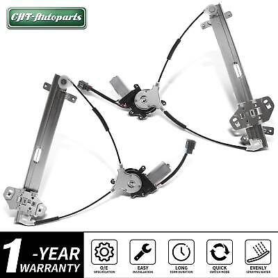 Power Window Regulator with Motor Assembly Front Left Drivers Side Replacement fit for 2003-2007 Honda Accord 2 Door Replace 72250SDNA03 741-304