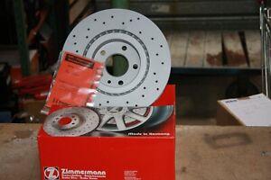 2x-Zimmermann-Disques-de-Frein-Sport-Perfore-Fiat-Grande-Punto-Kit-pour-Devant