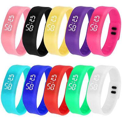 Unisex LED Sport Running Reloj Date Rubber Bracelet Digital Reloj de pulsera