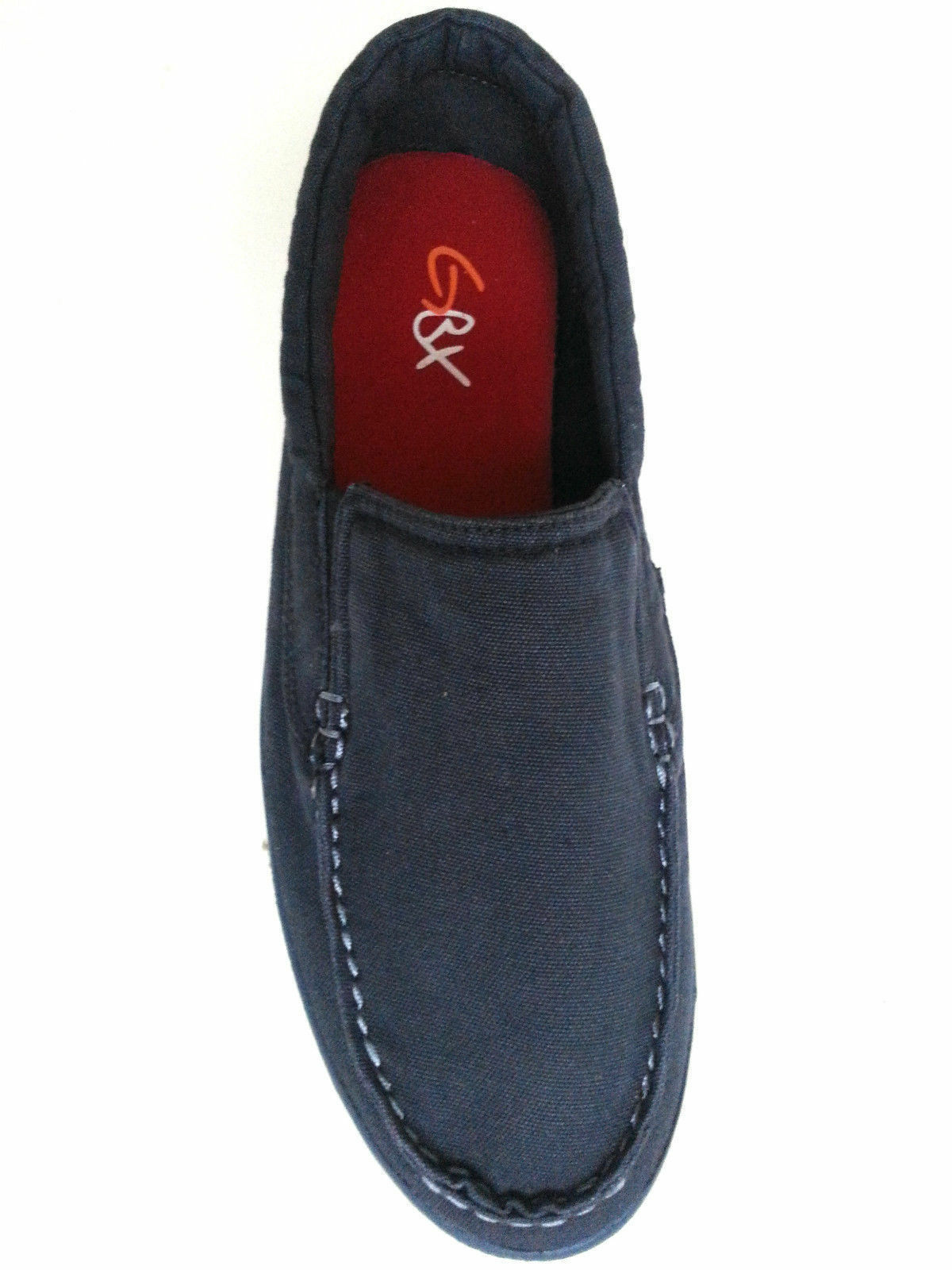 New GBX Men's Maddox Faded Navy Canvas Loafer shoes Sz 9M