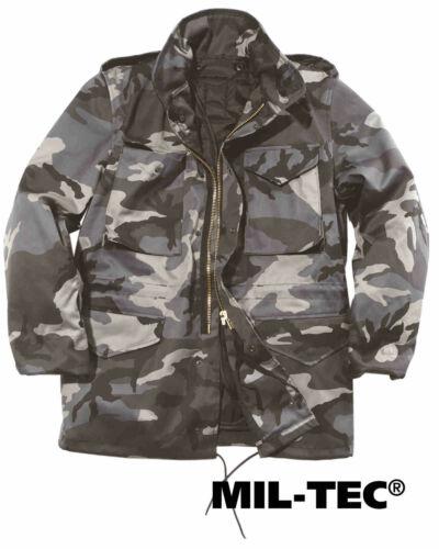 Mil-tec us campo chaqueta m65 T//C M fu Dark camo hidrófuga chaqueta