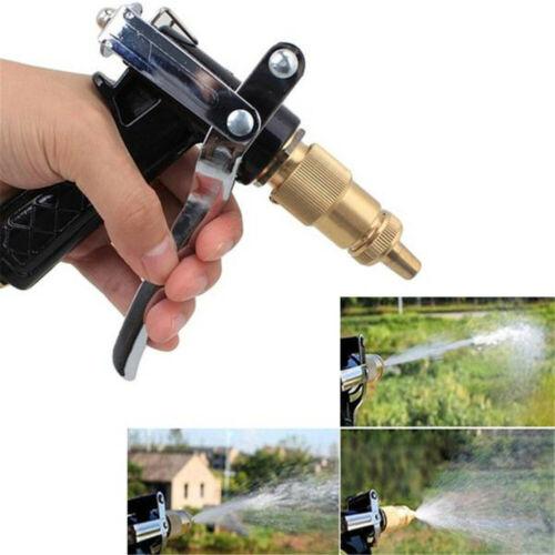 High Pressure Water Spray Gun Brass Nozzle Garden Hose Pipe Lawn Car Wash Pop UK