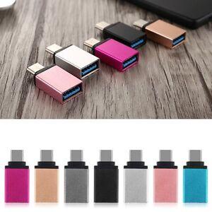USB-3-1-Tipo-C-Macho-a-USB-3-0-Hembra-OTG-Datos-Sync-Adaptador-Convertidor