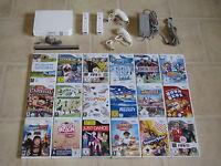 Nintendo Wii Konsole mit Zubehörpaket + 3 Gratis Wii Spiele + 2x Remote