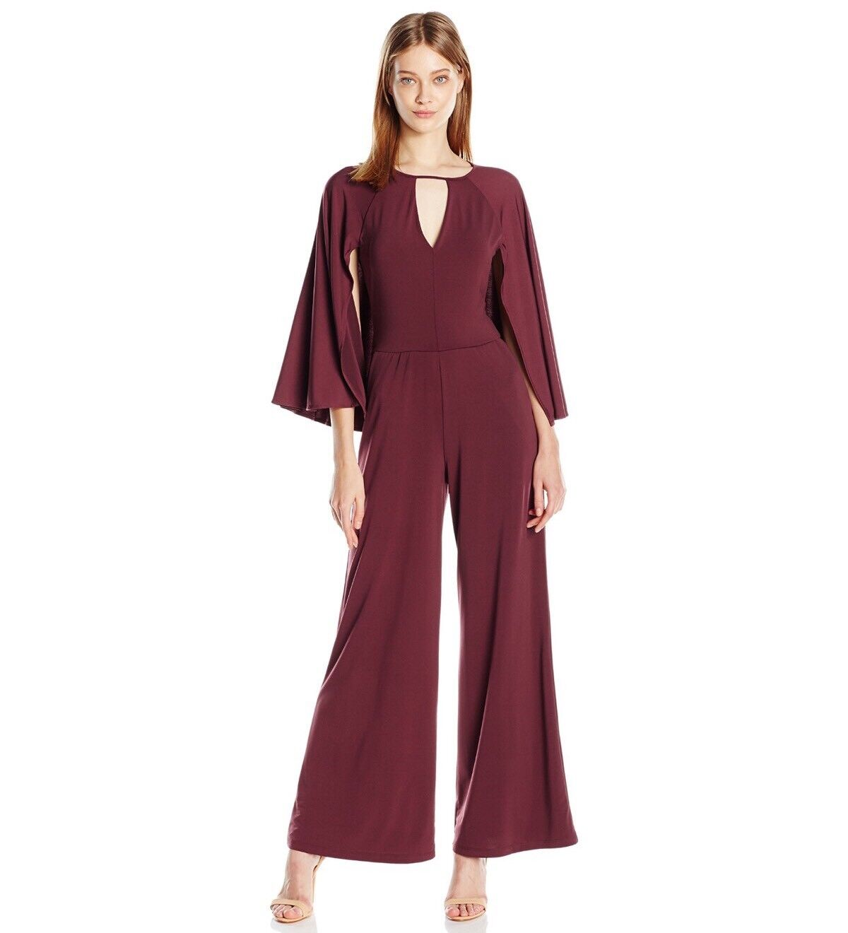 Guess Women's Micah Wide Leg Jumpsuit With Cape Size XS