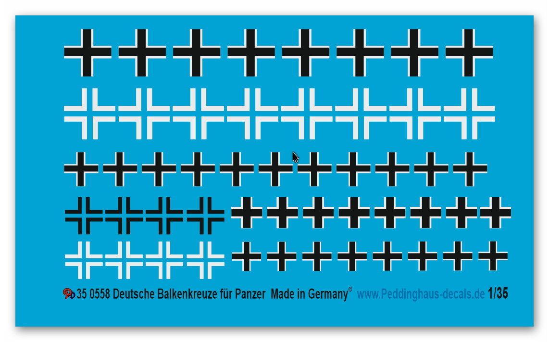 Peddinghaus-decals 1 35 0558 Barra Atraviesa para wehrmachts - Vehículos