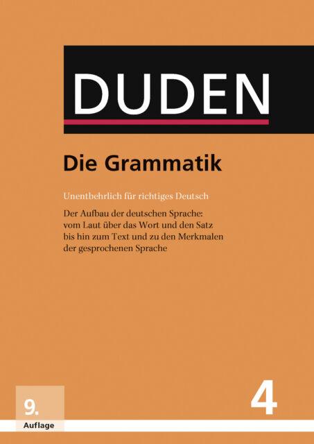 Duden - Die Grammatik  Duden - Deutsche Sprache in 12 Bänden Der Duden