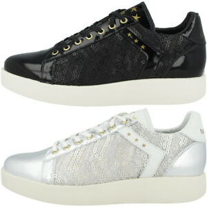 Schuhe Damen Oro Sneaker Low D Donut 10181051 Pantofola Retro Lecce Pailette 5TZq64RxwH